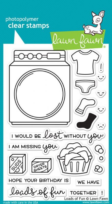 LF1048 ~ LOADS OF FUN ~ CLEAR STAMPS BY LAWN FAWN